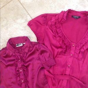 Mommy & Me fuchsia blouse set 5t/Small